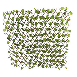 """Master Garden Products - Expandable Faux Ivy Decorative Trellis Fence, 72""""W x 48""""H, Set of 4 - Comes in a set of 4. Our faux ivy privacy expandable trellis fences will create an instant privacy screen.  Just open and extend the trellis, can expand 6' long, 4' or 5' feet high. This faux fence is great for backyard events, or use them for privacy in your yard to hide unwanted views, and enhance the look of your property. It features realistic green fade-resistant polyester ivy leave."""