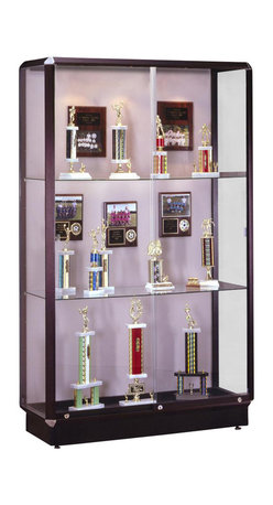 Waddell - Prominence 78 in. Display Case in Dark Bronze - Show it off in high style in a Prominence Series display case. Its uncommon artistry will speak volumes about your good taste. Durable as well as attractive. Inside the Prominence, your proudest achievements and prized items never looked so good!