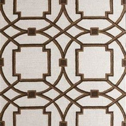 Global Views - Global Views Arabesque Rug - Mocha - Hand-tufted, hand-dyed in custom colors to work in today's interiors. The designs are created by our in-house design team and are exclusive to Global Views. Available Sizes:Small - 5' x 8'  / Medium - 6' x 9'Large - 8' x 10' / X-Large - 9' x 12'