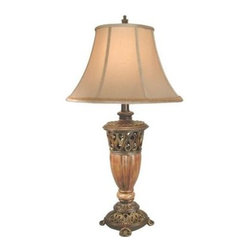 Dale Tiffany - Bronze Table Lamp: Taj Mahal 1-Light Table Lamp SPT11118 - Shop for Lighting & Fans at The Home Depot. From Springdale Lighting comes Taj Mahal this antique looking traditional style table lamp featuring a fabric shade. With a one of a kind designer base that will mesmerize you and make any room in your home or office brighter.