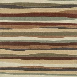 Loloi Rugs - Loloi Rugs Grant Collection - Spice, 2' x 3' - Hand-tufted in China of 100-percent polyester, the Grant Collection will give you the fashion interior you've always dreamed of. At once sleek yet softly contemporary, these hip patterns include boxed swirls, undulating stripes and dramatically scaled florals and botanicals. With its pile-and- loop construction, each Grant Collection rug will infuse a rich texture to your home like no other.
