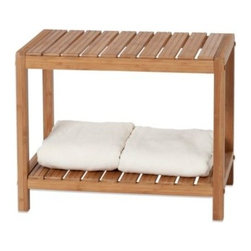 Creative Bath - Creative Bath EcoStyles Bamboo Spa Bench - The handcrafted 2-Foot Bamboo Spa Bench is both practical and beautiful. Not only is it smartly detailed and made of environmentally friendly bamboo, the top serves as functional seating, while the shelf below is perfect for holding towels or accessories.