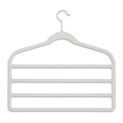 Honey Can Do International LLC - Honey Can Do Velvet Touch 4-Step Pant Hangers - Set of 10 - HNGZ01949 - Shop for Clothing Hangers from Hayneedle.com! About Honey-Can-DoHeadquartered in Chicago Honey-Can-Do is dedicated to helping you organize your life. They understand that you need storage solutions that are stylish and affordable at the same time. Honey-Can-Do focuses on current design trends and colors to create products that fit your decor tastes while simultaneously concentrating on exceptional quality. When buying a Honey-Can-Do product you can be sure you are purchasing a piece that has met safety control standards and social compliance methods.