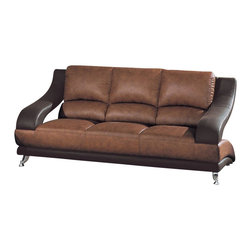 Global Furniture USA - Global Furniture USA 982 Sofa in Brown - Global Furniture USA - Sofas - U982RVT/BRS - The Global Furniture USA Sofa has been modeled to cater to both the desires of the contemporary or transitional home for design and comfort.