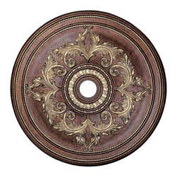 Livex - Livex Ceiling Medallions Ceiling Medallion 8211-64 - Finish: Palacial Bronze with Gilded Accents