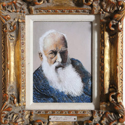 Max Karp, Portrait of Monet, Enamel on Copper - Artist:  Max Karp, American (1916 - )