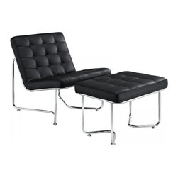 Modway Imports - Modway EEI-262-BLK Gibraltar Lounge Chair In Black - Modway EEI-262-BLK Gibraltar Lounge Chair In Black