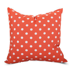 Outdoor Orange Ikat Dot Large Pillow