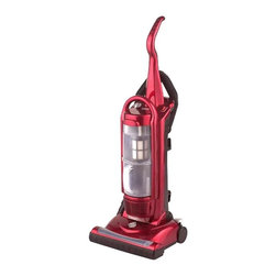 SPT Appliance - Bagless Upright 5 Level Vacuum Cleaner w HEPA - With a HEPA filtration system to capture dust, pollen and other allergens, this versatile upright vacuum cleaner will be ideal for those with allergies. It has a see-through dirt canister that is easily emptied when full, and includes a variety of different tools for floor to ceiling cleaning. HEPA filtration (High Efficiency Particulate Air). 10-amp motor. Adjustable suction power. See-through, easy empty dirt canister. Replaceable exhaust filter. 5 level carpet height selector. 14 in. W cleaning path. 3 ft. stretch hose. 26.25 ft. power cord. On board tools. Detachable body. Carrying handleInput voltage: 120V / 60HzPower consumption: 1200W Airflow: 1.8 m3/min  Pressure: 23 Kpa  Noise level: 80 db Dust capacity: 8.5L  Suction power: 24015 in. W x 15 in. L x 42.5 in. H (18.75 lbs.)SPT bagless upright vacuum offers a strong suction power with no messy bags to clean. Features HEPA filtration to capture dust, pollen and allergen. Long 26.25 ft. power cord and onboard tools allow easy wall-to-wall cleaning.