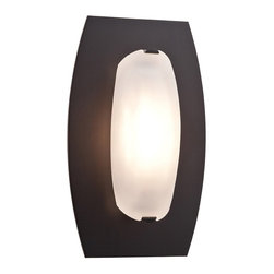 Access Lighting - Nido 1-Light Wall or Ceiling Fixture - Contemporary 1-light wall or ceiling fixture with frosted glass in matte chrome or oil-rubbed bronze finish