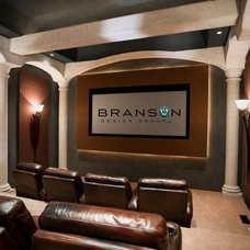 Traditional Home Theater by Branson Design Group