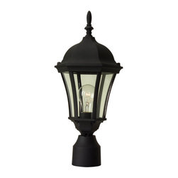 Craftmade - Craftmade Z385 Single Light Up Lighting Medium Outdoor Post Light from the Curve - Single Light Medium Outdoor Post Light from the Curved Glass Collection