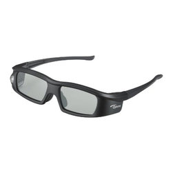 Optoma - OPTOMA BG-ZD301 BG-ZD301 Active Shutter 3D Glasses - � Lightweight, stylish design for a comfortable fit;� Batteries provide up to 60 hours of use;� Rechargeable up to 1,000 times;� Long effective distance range;� Compatible with most 3D DLP(R) projection systems;� Includes 3D glasses, USB charging cable, soft pouch, microfiber cleaning cloth & nose piece;� 90-days limited warranty
