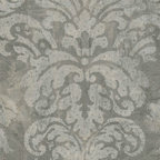 Patton - Cs27351 Silk And Satin Damask Wallpaper - CS27351 from Classic Silks is a grey silk and satin wallpaper with a damask pattern.