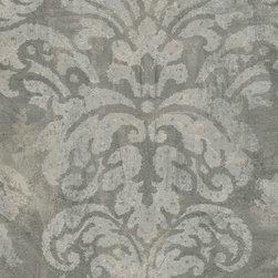 Patton - Cs27351 Silk And Satin Damask Wallpaper - CS27351 from Classic Silks is a grey silk and satin wallpaper with a damask pattern.