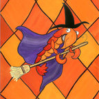 Caroline's Treasures - Crawfish Witch Halloween Flag Garden - Garden Flag ...The Garden size flag is made from a 100% polyester material. Two pieces of material have been sewn together to form a double sided flag. This allows the text and image to be seen the same from both sides. This flag is fade resistant and weather proof. The flag measures approximately 11 inches x 15 inches (garden stand sold separately)