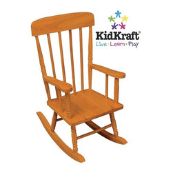 KidKraft - Spindle Rocking Chair - Honey by Kidkraft - Our Spindle Rocking Chair is inspired by painter Norman Rockwell's classic artwork and was designed to capture the timelessness of that era. Kids will love rocking back and forth in this child-sized chair.