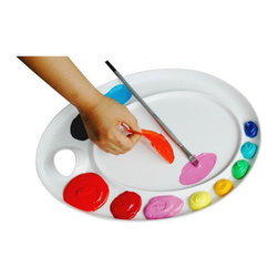 Martin Universal - Martin Universal Ellipse-XL Peel Off Acrylic Palette Multicolor - 92-AP3079 - Shop for Painting from Hayneedle.com! The Martin Universal Ellipse-XL Peel Off Acrylic Palette carries the traditional oval shape of palettes past but comes with a distinctly modern feature. Acrylics simply peel off the special-plastic surface and oils wipe clean away. Stop marring today's colors with yesterday's mixes - and start painting on a perfectly clean surface every time. The ergonomic design permits this palette to be held by the right hand or the left hand. Includes rubber feet to prevent it from skidding.About Martin Universal/F. Weber Co.For a century and a half the name Martin Universal and F. Weber Co. have been synonymous with quality art materials. Established in 1853 in Philadelphia Pa. the Martin/Weber is the oldest and one of the largest manufacturers of art materials in the United States.