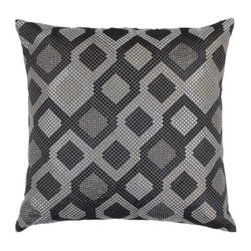 """Z Gallerie - Broadway Pillow 22"""" - Graphic and bold, our Broadway Pillow layers your décor with clean-lined and modernly detailed decorative distinction.  Embroidered with small beads shaped to resemble multi-hued diamonds, our Broadway Pillow is as graphic as it is glamorous.  Various shades of charcoal, silver and grey create the layered and graphically repetitive look, making it a stunning piece for a wide array of décor settings.  The generously sized 22 inch square pillow is filled with a sumptuous feather and down insert and a hidden zipper."""
