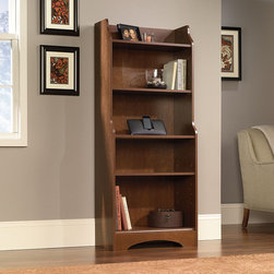 """Sauder - Graham Hill Bookcase - Features: -Two adjustable shelves.-Available in Autumn Maple.-Overall dimensions: 59"""" H x 24.5"""" W x 11.5"""" D."""