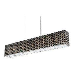 Schonbek Lighting - Schonbek Lighting RE3606JAG Refrax Silver Pendant - 11 Bulbs, Bulb Type: 50 Watt Halogen; Product made-to-order, 6-8 week lead time