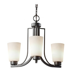 Feiss - Feiss F2763/3CI Weston 3 Light Colonial Iron Chandelier - Finish: Colonial Iron
