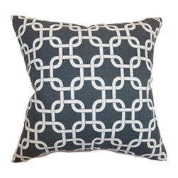 The Pillow Collection - Qishn Geometric Pillow Charcoal Slub - - Comes standard at 18 x 18  - Reversible pillow with same fabric on both sides  - Includes a hidden zipper for easy cover removal and cleaning  - Comes standard with a down pillow insert  - All four sides have a clean knife-edge finish  - Pillow insert is 19 x 19 to ensure a tight and generous fit  - Cover and insert made in the USA  - Spot cleaning recommended  - Fill Material: Down  - Pillow cover made of Cotton The Pillow Collection - P18-PP-GOTCHA-CHARCOAL-SLUB-C1