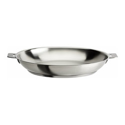 "Cristel USA - Cristel Strate Removable Handle - 7.87"" Stainless Steel Frying Pan - ***REMOVABLE HANDLES SOLD SEPARATELY***"