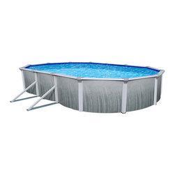 Blue Wave - Blue Wave Martinique Oval 52 Inch Above Ground Pool - 15 ft x 30 ft - 7 Toprail W Widemouth Skimmer, Above Ground Pool 1