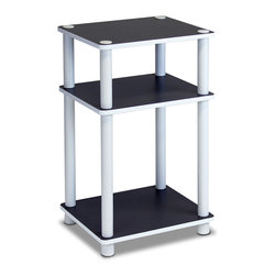 Furinno - Furinno 11087 Just 3-Tier No Tools End Table - Furinno Just Series No Tools No hassles shelves and tables features the serenity of the Japanese living room life style. The white finished of the product delivers the clean and cozy feel and blend in with any room decor. These multifunctional tables and shelves suitable for any room that need storage shelves, display, TV entertainment or even kids room. The designs are simple and basic which fit into a modern stylish lifestyle. This series are made of 12mm E1 Grade Particleboard made from recycled materials of rubber trees, eco-friendly. All the materials are manufactured in Malaysia and comply with the green rules of production. There is no foul smell, durable and the material is the most stable amongst the particleboards. A simple attitude towards lifestyle is reflected directly on the design of Furinno Furniture, creating a trend of simply nature. All the products are produced and assembled 100-percent in Malaysia with 95% - 100% recycled materials.