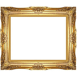 Majestic Gold Frame - Ornate golden frames look amazing when showcasing a work of art against natural and rustic decor. They call attention to the piece and add a hint of glamour.