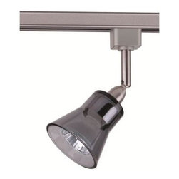 Hampton Bay - Hampton Bay 1-Light Linear Track Head Brushed Steel Smoke Glass EC1373SBA3 - Shop for Lighting & Fans at The Home Depot. This 120 volt, line voltage, linear track fixture, will work with any standard Hampton Bay Linear H series Track (sold separately). It installs on the track in seconds, with a quick 1/4 turn to lock in place and is multidirectional to shed light in much needed areas. This fixture uses a brilliant, 50-watt, GU10-16, 120 volt Halogen light bulb which is included. For replacement bulbs use SKU # 718-309. This fixture works with a standard incandescent dimmer switch, and is not to be used with low voltage dimmers.