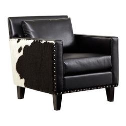 Armen Living - Armen Living Dallas Chair Multicolor - LC21451BL - Shop for Living Room Chairs from Hayneedle.com! Whether you're cheering on the Cowboys or sitting in a rustic-themed den the Armen Living Dallas Chair will set the perfect mood for your luxurious leisure time. This unique chair is upholstered in genuine black leather with hair on hide side panels and features traditional nailhead trim on the sides and front.About Armen LivingImagine furniture without limits - youthful robust refined exuding self-expression at every angle. These are the tenets Armen Living's designers abide by when creating their modern furniture collections. Building on more than 30 years of industry experience Armen Living combines functional versatility and expert craftsmanship into their dramatic furniture styles all offered at price points fit for discriminating budgets. Product categories include bar stools club chairs dining tables ottomans sofas and more. Armen Living is based in Sun Valley Calif.
