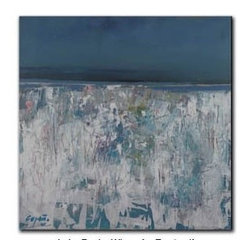 """Lake Pepin Winter Frost 10x10 - """"Lake Pepin Winter Frost"""" is a landscape canvas giclee by Steve Capiz.  This 10x10 canvas is gallery wrapped . We take the fine art canvas and stretch it over a wooden frame, adhering the canvas to the backside of the frame. The canvas actually wraps around the edges of the frame, giving your print the look of a fine piece of art, such as you might find in an art gallery. There is no need for a picture frame. Your piece of art is ready to hang or lean against a wall, or display on an easel."""