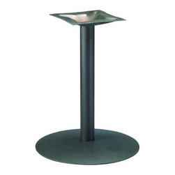 "MTS Seating - Round Series 22 in. Table Base w 4 in. Column (Espresso) - Finish: Espresso. Be positive that your Oscar-worthy, epicurean creations are thoroughly grounded with this pragmatically constructed and designed 22"", 4"" column table base defined by switch able glides, available in an assortment of beautiful chrome & powdercoats. * Adjustable Glides - Threaded for manual adjustment. Cast mounting plate & bolt assembly. Base: 22 in. diam.. Column: 4 in.. Mounting Plate: 15 in. x 15 in.. Weight: 47 lbs.. Recommended Top Sizes: 36 in. - 42 in."
