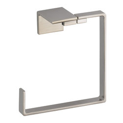 Delta - Vero Towel Ring in Stainless - Delta 77746-SS Vero Towel Ring in Stainless. Its sleek and minimalist design are just two reasons the ribbon-inspired Vero Collection is the perfect urban oasis.  Sometimes accessories make all the difference and that's why Delta offers a variety of bath accessory items.  Offered in chrome and stainless, the Vero Bath Collection comes with a full suite of coordinating accessories, providing a decorative look throughout the bath.Delta 77746-SS Vero Towel Ring in Stainless, Features:Wood blocking is preferable behind all wall surfaces
