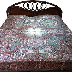 Pashmina Bedspreads - http://www.mogulinterior.com/pashmina-bedspreads.html
