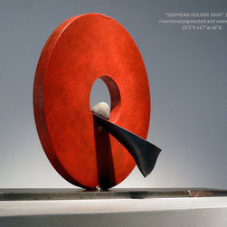 'Sisyphean Holiday XXVII' River Stone and Steel Artwork - Pigmented River stone and Sealed Steel
