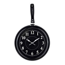 Modway - Pan Shaped Wall Clock - Eei-770 - Stainless Steel
