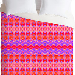 DENY Designs - DENY Designs Amy Sia Watercolour Ikat 3 Duvet Cover - Full spectrum. Forty winks look fabulous with the Amy Sia Watercolour Ikat 3 Duvet Cover from DENY Designs. Mesmerizing patterns adorn this artist-designed piece, custom-created using a six-color printing technique that directly dyes the buttery-soft woven front. A cozy cotton-blend on the backside was created for cuddling. This vibrant accent plays well with subdued neutrals. Talk about beauty rest! Pillowcases not includedAvailable in multiple sizesZip closureInterior corner tiesCustom printed for every orderWoven polyester front / cotton-polyester backMachine washableDesigned by Amy SiaMade in the USAShips in 1 week