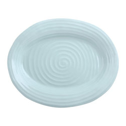Portmeirion - Sophie Conran Celadon Medium Oval Platter Multicolor - 506916 - Shop for Sets from Hayneedle.com! Whether you're serving a home-cooked roast or store-bought deli meat the Sophie Conran Celadon Medium Oval Platter is an elegant way to serve it. This beautiful piece of serveware is constructed of durable porcelain and is designed to go from oven to table. Incredibly sturdy you can also pop it in the freezer or microwave. Plus cleanup is easy just place it in the dishwasher run and you're done.About PortmeirionStrikingly beautiful eminently practical refreshingly affordable. These are the enduring values bequeathed to Portmeirion by its legendary co-founder and designer Susan Williams-Ellis. Her father architect Sir Clough Williams-Ellis was the designer of Portmeirion the North Wales village whose fanciful architecture has drawn tourists and artists from around the world (including the creators of the classic 1960s TV show The Prisoner). Inspired by her fine arts training and creation of ceramic gifts for the village's gift shop Susan Williams-Ellis (along with her husband Euan Cooper-Willis) founded Portmeirion Pottery in 1960. After 50+ years of innovation the Portmeirion Group is not only an icon of British design but also a testament to the extraordinarily creative life of Susan Williams-Ellis.The style of Portmeirion dinnerware and serveware is marked by a passion for both pottery manufacturing and trend-setting design. Beautiful tactile nature-inspired patterns are a defining quality of Portmeirion housewares from its world-renowned botanical designs modeled on antiquarian books to the breezy natural colors of its porcelain and earthenware. Today the Portmeirion Group's design legacy continues to evolve through iconic brands such as Spode the Pomona Classics collection and the award-winning collaboration of Sophie Conran for Portmeirion. Sophie Conran for Portmeirion:Successful collaborations have provided design inspiration throughout Sophie Conra