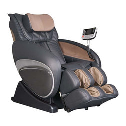 """Osaki - OS-3000 Zero Gravity Heated Reclining Massage Chair - The Osaki 3000 massage chair is designed with a set of S-track movable intelligent massage robots, with a special focus on the neck, shoulder and lumbar massage according to body curve. The Osaki 3000 automatically detects the whole body curve as well as makes micro adjustments, which brings more humanistic and scientific massage enjoyment, creating a personal massage experience just for you. Features: -Zero gravity massage with auto body scan and Leg Scan. -Designed with six unique auto-programs: Healthcare, relax, therapy, smart, circulation and demo. -Automatic massage for the upper body (shoulder, neck, back and lumbar), the low body (buttock, thigh, calves and feet. -Manual massage for the upper body with three options, full body, partial and fixed. -Six massage styles - rolling, kneading, clapping, shiatsu, Swedish and combo with five levels of speed and intensity. -Three adjustable width settings, wide, medium and narrow. -25 Air bags: 10 in the feet, 10 in the calves, 3 in the seat and 2 in the back. -Synthetic Leather. -Seat dimensions: 22"""" H x 22"""" W x 23"""" D. -3 Year warranty which includes full coverage of all parts and labor for 1 year, 2nd and 3rd year parts. Instruction Manual"""