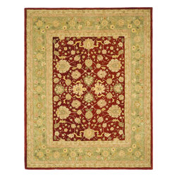 Safavieh - Safavieh Anatolia, Red, 6' Square Rug - Anatolia Collection brings old world sophistication and quality in new tufted rugs. This collection captures the authentic look and feel of the decorative rugs made in the late 19th century in this region. Hand spun wool and an ancient pot dying technique together with a densely woven thick pile, gives Anatolia rugs their authentic finish.