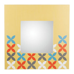 Modern Flowers Mirror - Fun and simple, the Modern Flowers Mirror is a contemporary take on flowers. Hang it in your living room or bedroom to add a bit of color and just a touch of retro inspiration.