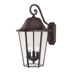 Savoy House - Savoy House Truscott Outdoor Wall Mount Light Fixture in English Bronze - Shown in picture: Give your home a fresh look with this eye-catching group from Savoy House.