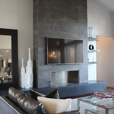 Contemporary Living Room by THE MASONRY CENTER INC