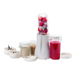"TRIBEST CORP. - Tribest BPA Free PB-250 Personal Blender And Grinder,21.7""W x 13.4""H x 15.8""D - Tribest BPA Free PB-250 Personal Blender And Grinder delivers an impressive 200 watts of ice-crushing, smoothie-making power whenever plugged in. It is compact and smartly designed with high impact BPA free polyester containers for blending, grinding or serving. This device is capable of two function modes which are one-touch pulse mode or press down mode for continuous blending or grinding operation."