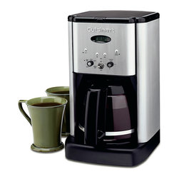 Cuisinart Brew Central 12 Cup Coffeemaker - Introducing an evolutionary new look in coffeemakers. The Cuisinart Brew Central Coffeemaker makes a bold statement with a brushed metal finish and an elegant tech-industrial design. Programmable from start to finish  with a variable heater plate for temperature control  it's the ideal coffeemaker for today's demanding consumer. It even tells you when it's time to decalcify. Cuisinart quality  performance and convenience.Product Features                                 Classic stainless design            12-cup carafe with ergonomic handle  dripless spout and knuckle guard            Brew Pause feature lets you enjoy a cup of coffee before brewing has finished            Adjustable keep warm temperature control            24-hour brew programming            Time-to-clean monitor with indicator light            Programmable automatic shutoff 0-4 hours            1 to 4-cup feature            Gold tone filter and measuring scoop            Charcoal Water Filter removes impurities that could interfere with taste.            Limited 3-Year Warranty