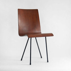 Vintage Bent Plywood Chair by Hindsvik - I love the unique construction of this midcentury chair. The metal legs and the plywood make it an interesting piece.