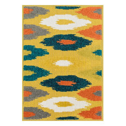 """Loloi Rugs - Loloi Rugs Terrace Collection - Citron / Multi, 1'-8"""" x 2'-6"""" - Bold design and bright colors come together beautifully in the outdoor-friendly Terrace Collection. Each Terrace rug is power loomed in Egypt of 100% polypropylene that's specially treated to withstand rain and UV damage without staining or fading color.�"""